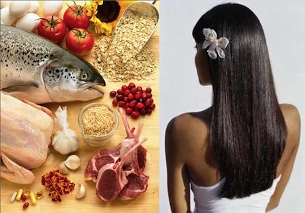 Продукты против выпадения волос на голове